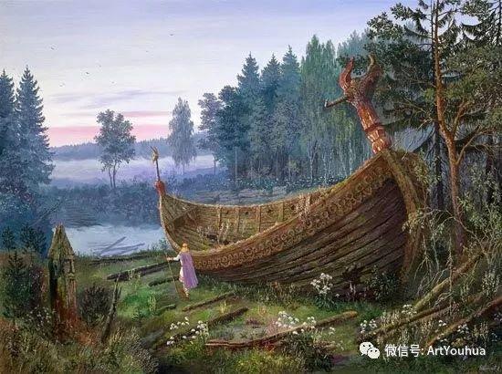 民俗场景和神话绘画 俄罗斯Vsevolod Ivanov作品插图17