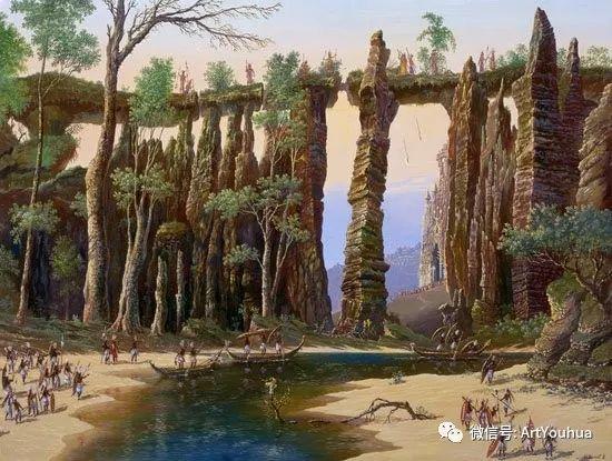 民俗场景和神话绘画 俄罗斯Vsevolod Ivanov作品插图19