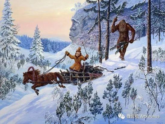 民俗场景和神话绘画 俄罗斯Vsevolod Ivanov作品插图21