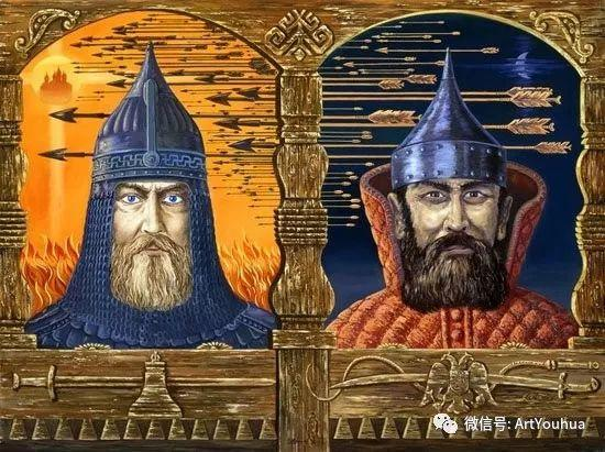 民俗场景和神话绘画 俄罗斯Vsevolod Ivanov作品插图25