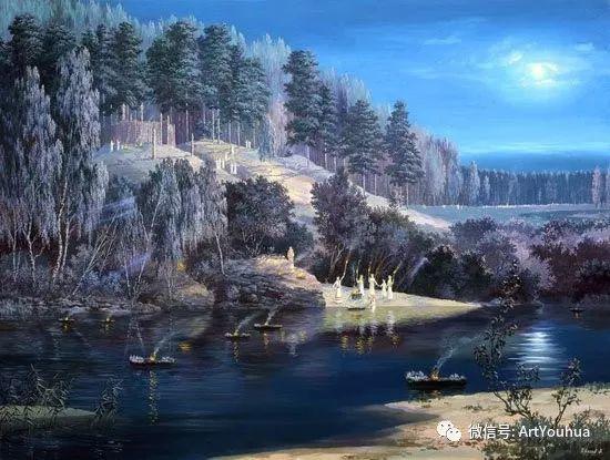 民俗场景和神话绘画 俄罗斯Vsevolod Ivanov作品插图27