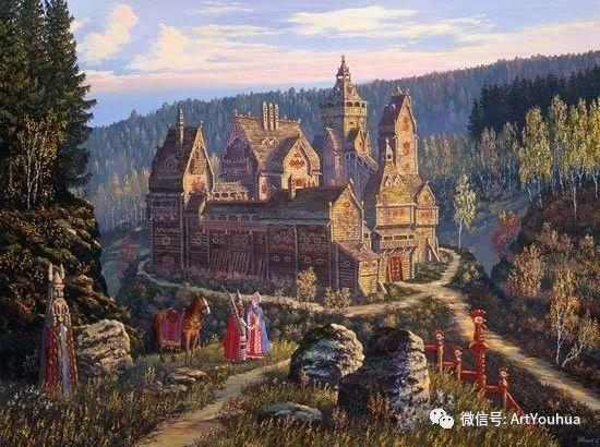 民俗场景和神话绘画 俄罗斯Vsevolod Ivanov作品插图29