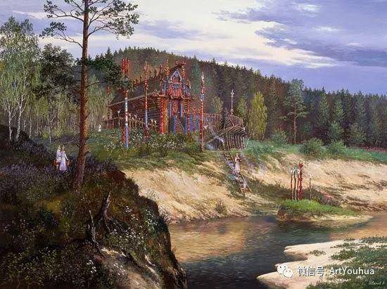 民俗场景和神话绘画 俄罗斯Vsevolod Ivanov作品插图31