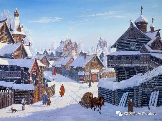 民俗场景和神话绘画 俄罗斯Vsevolod Ivanov作品插图37