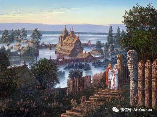 民俗场景和神话绘画 俄罗斯Vsevolod Ivanov作品插图39