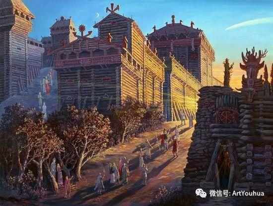 民俗场景和神话绘画 俄罗斯Vsevolod Ivanov作品插图41