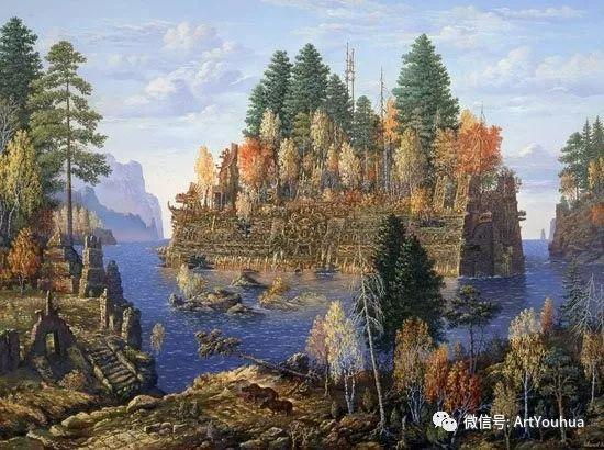 民俗场景和神话绘画 俄罗斯Vsevolod Ivanov作品插图45