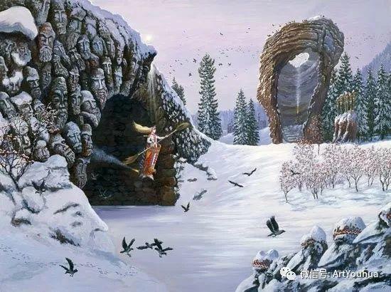 民俗场景和神话绘画 俄罗斯Vsevolod Ivanov作品插图47