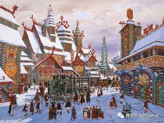 民俗场景和神话绘画 俄罗斯Vsevolod Ivanov作品插图49