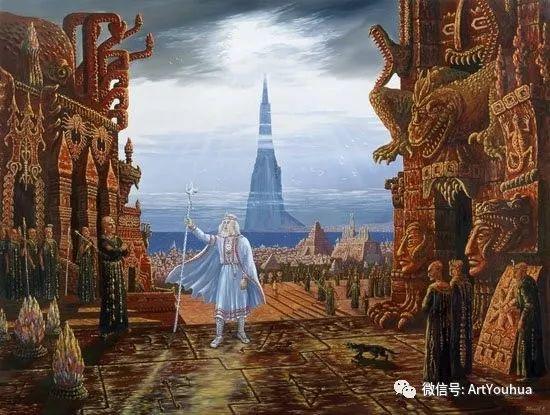 民俗场景和神话绘画 俄罗斯Vsevolod Ivanov作品插图53