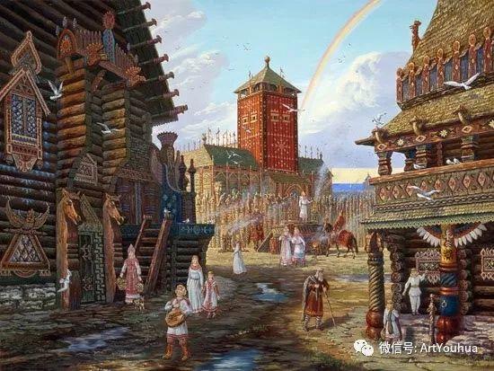 民俗场景和神话绘画 俄罗斯Vsevolod Ivanov作品插图57