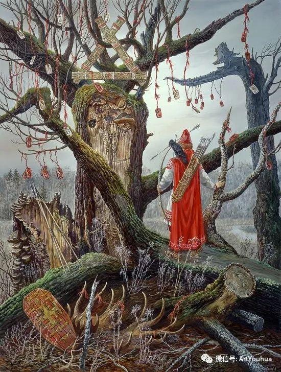 民俗场景和神话绘画 俄罗斯Vsevolod Ivanov作品插图61