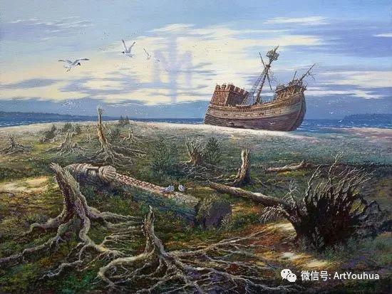 民俗场景和神话绘画 俄罗斯Vsevolod Ivanov作品插图63