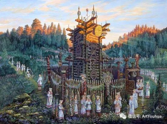 民俗场景和神话绘画 俄罗斯Vsevolod Ivanov作品插图69