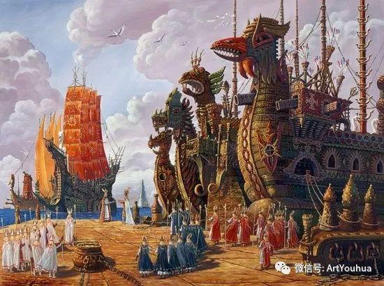 民俗场景和神话绘画 俄罗斯Vsevolod Ivanov作品插图75
