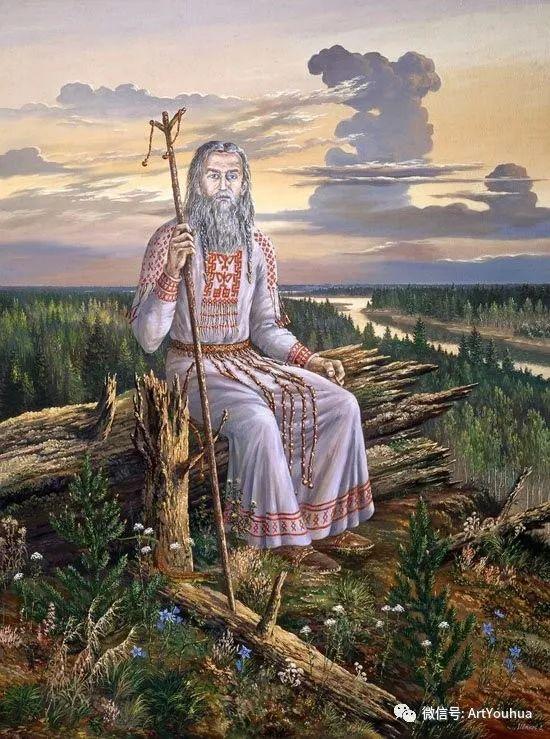 民俗场景和神话绘画 俄罗斯Vsevolod Ivanov作品插图79