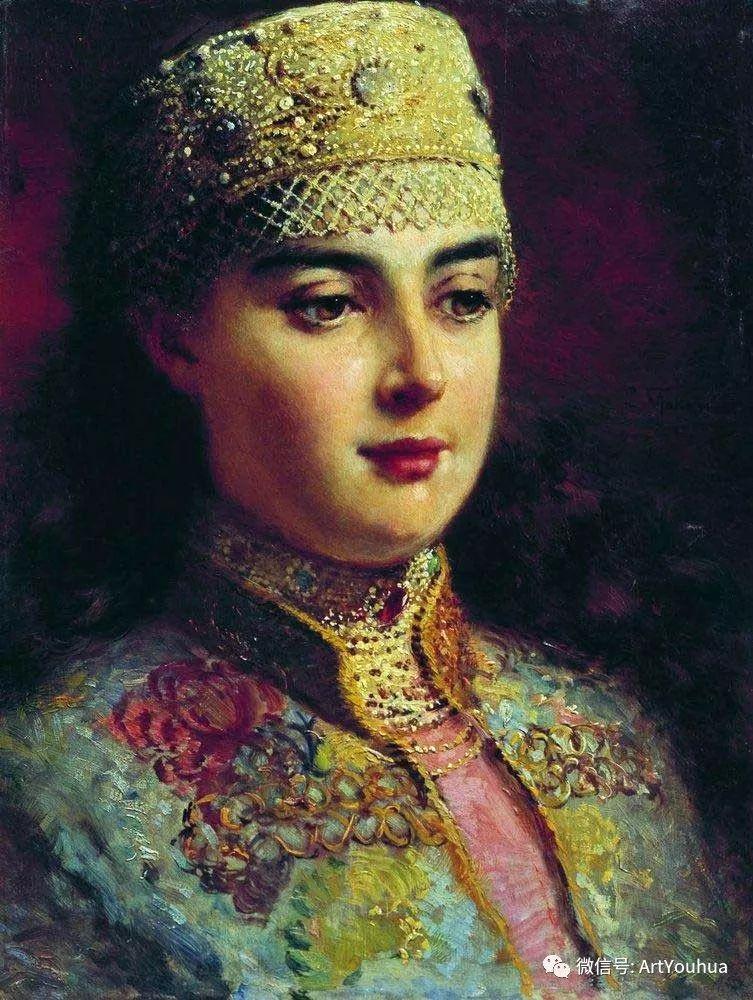 人物油画 俄罗斯Konstantin Makovsky插图39