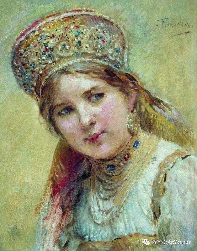 人物油画 俄罗斯Konstantin Makovsky插图115