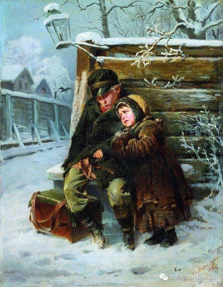 人物油画 俄罗斯Konstantin Makovsky插图139