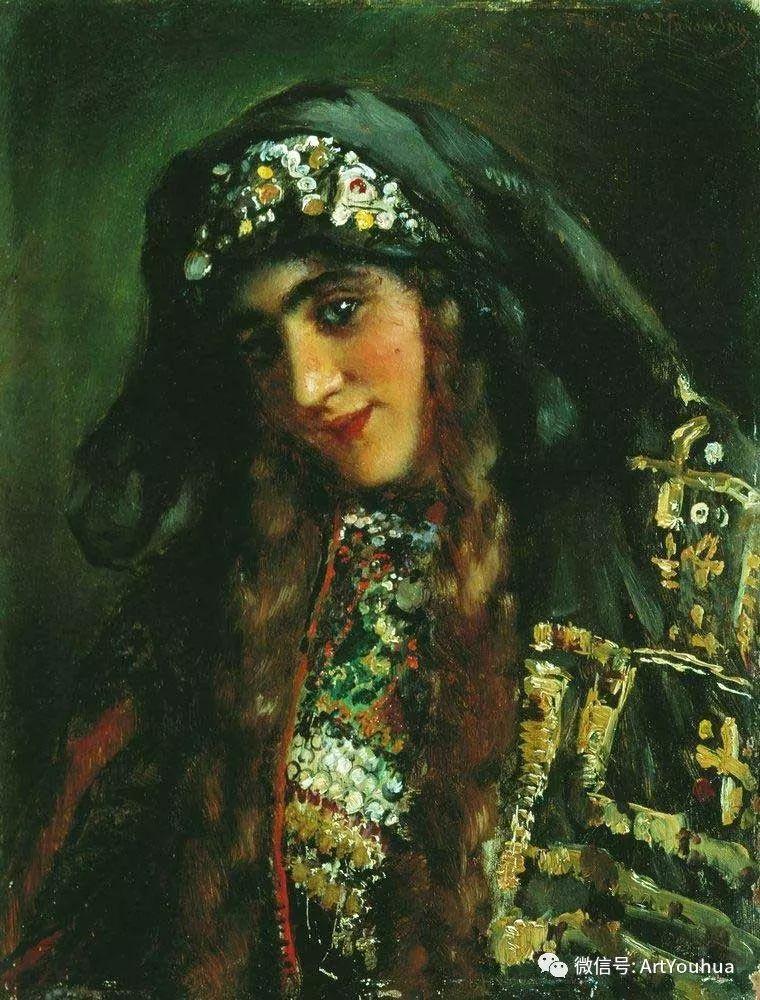 人物油画 俄罗斯Konstantin Makovsky插图147