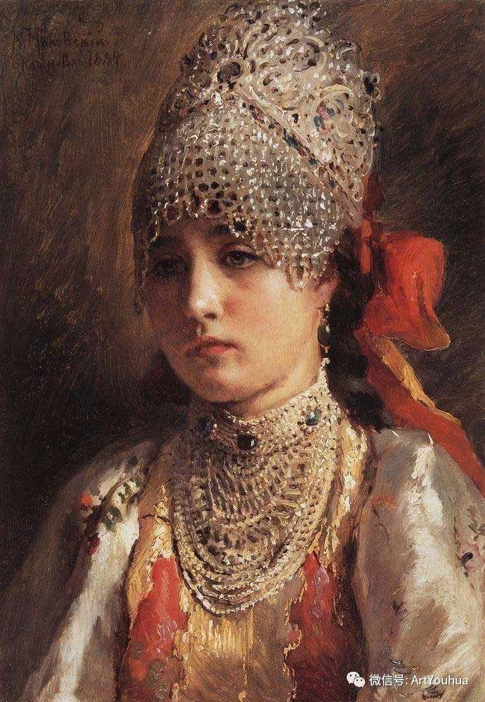 人物油画 俄罗斯Konstantin Makovsky插图157
