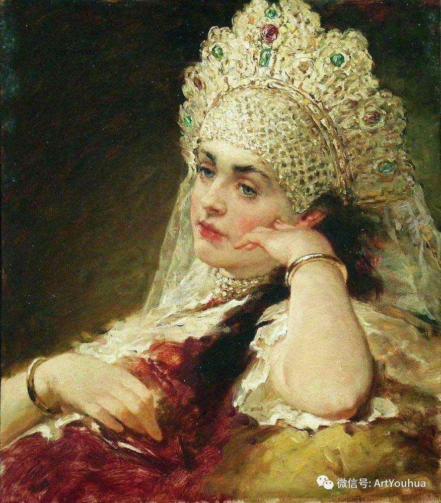 人物油画 俄罗斯Konstantin Makovsky插图161