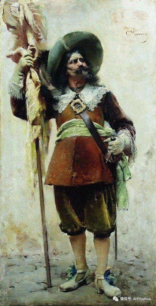 人物油画 俄罗斯Konstantin Makovsky插图165