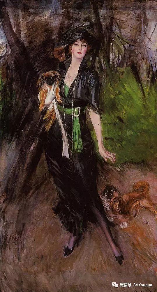 48张人物油画 意大利画家Giovanni Boldini作品一插图25