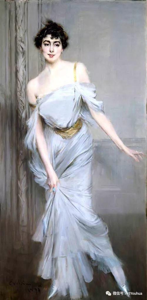 48张人物油画 意大利画家Giovanni Boldini作品一插图33