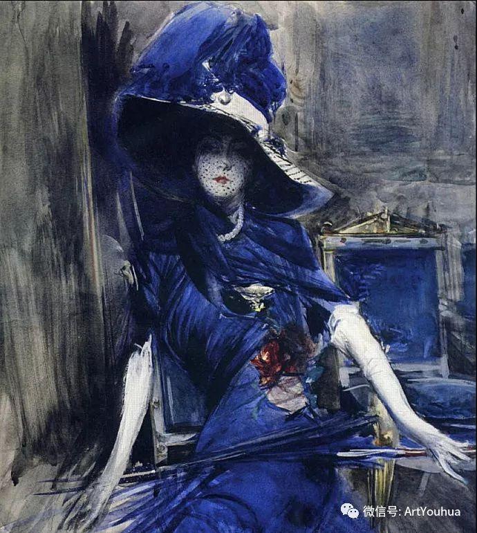 48张人物油画 意大利画家Giovanni Boldini作品一插图53