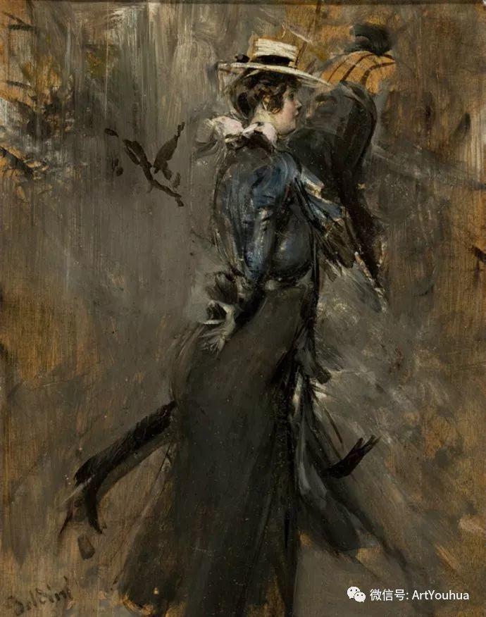 48张人物油画 意大利画家Giovanni Boldini作品一插图61