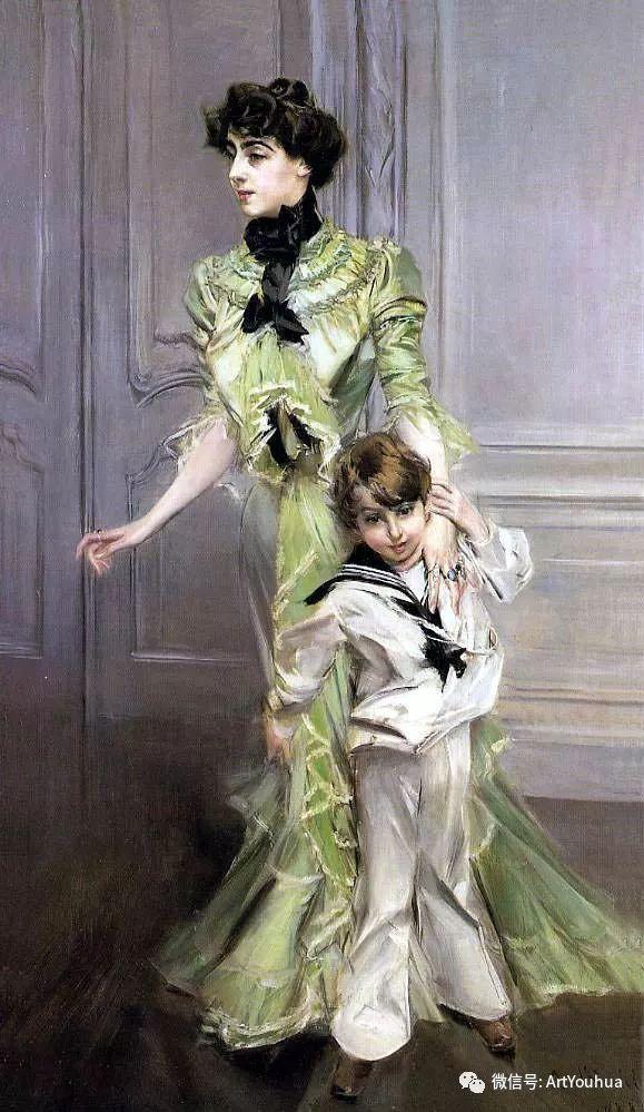 48张人物油画 意大利画家Giovanni Boldini作品一插图71