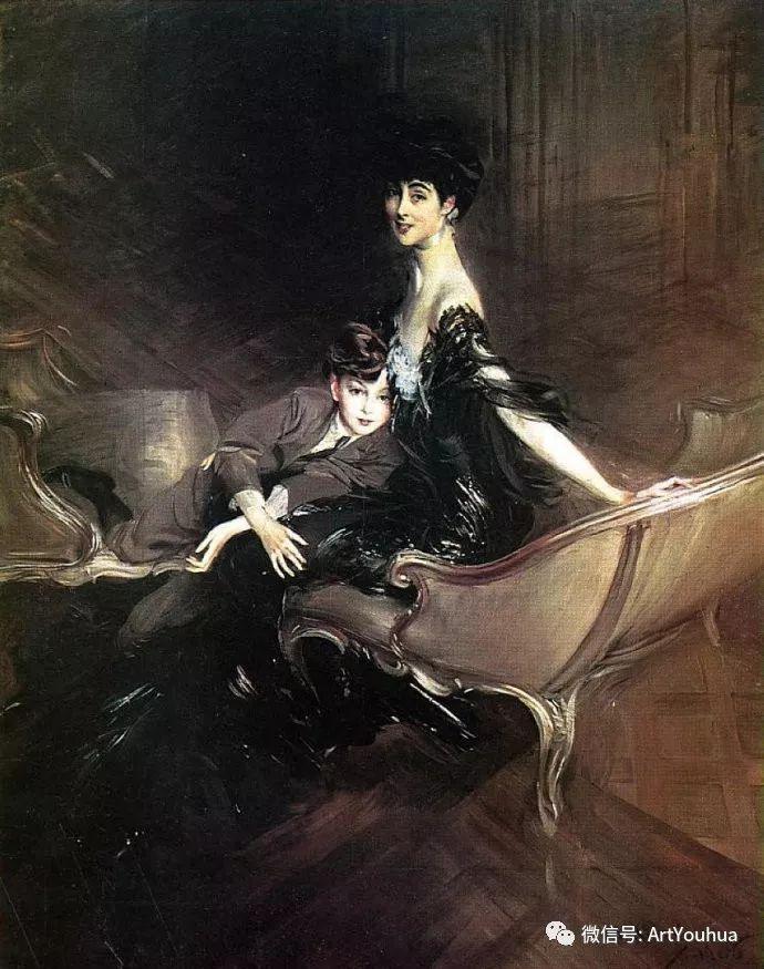 48张人物油画 意大利画家Giovanni Boldini作品一插图77
