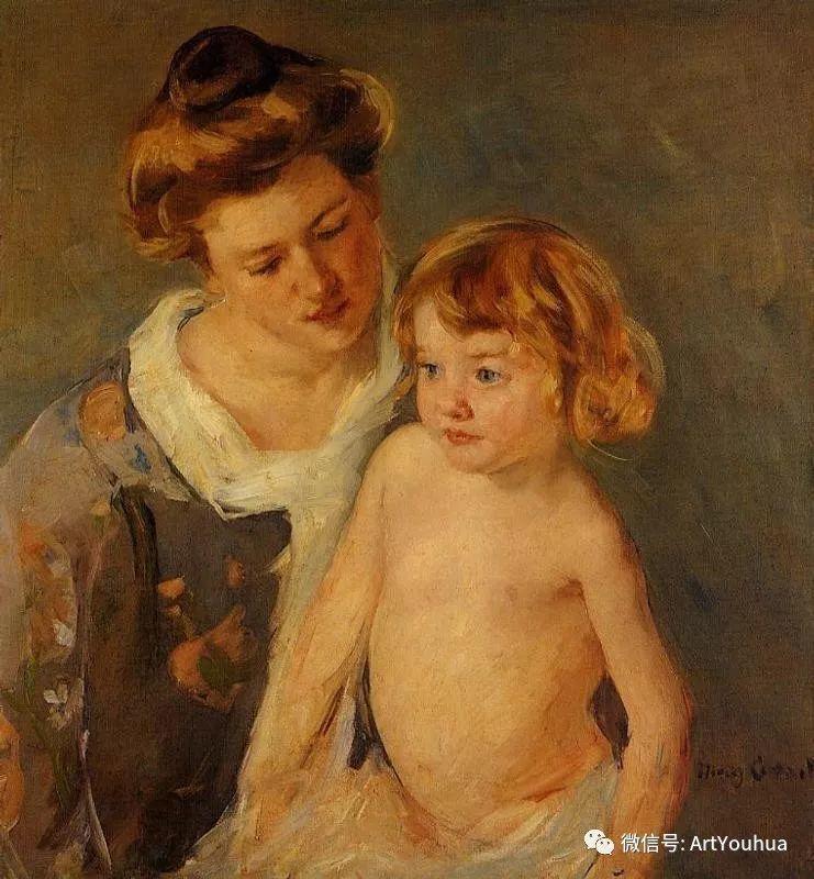 50张人物肖像  美国Mary Stevenson Cassatt油画作品一插图1