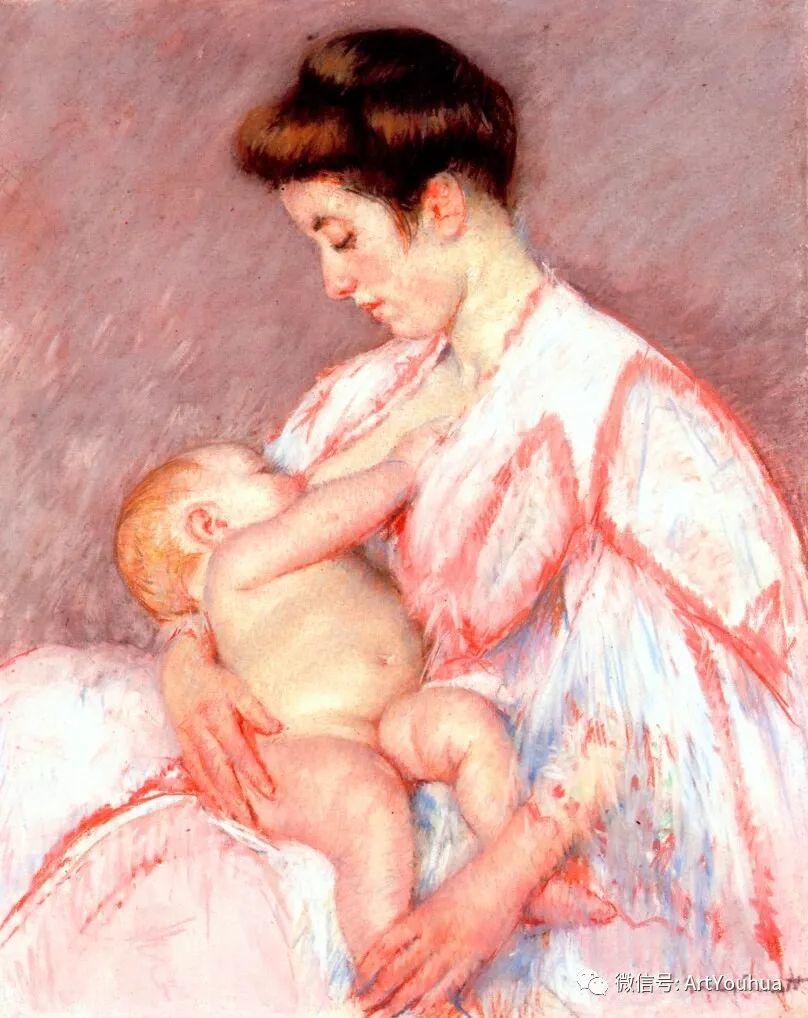 50张人物肖像  美国Mary Stevenson Cassatt油画作品一插图11