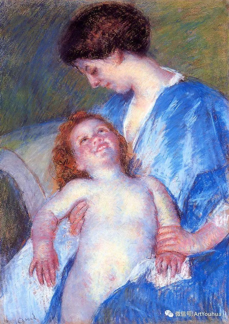 50张人物肖像  美国Mary Stevenson Cassatt油画作品一插图15