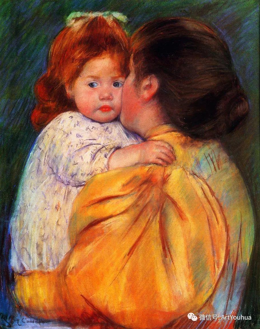 50张人物肖像  美国Mary Stevenson Cassatt油画作品一插图21