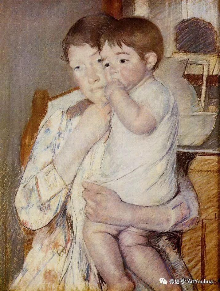 50张人物肖像  美国Mary Stevenson Cassatt油画作品一插图27