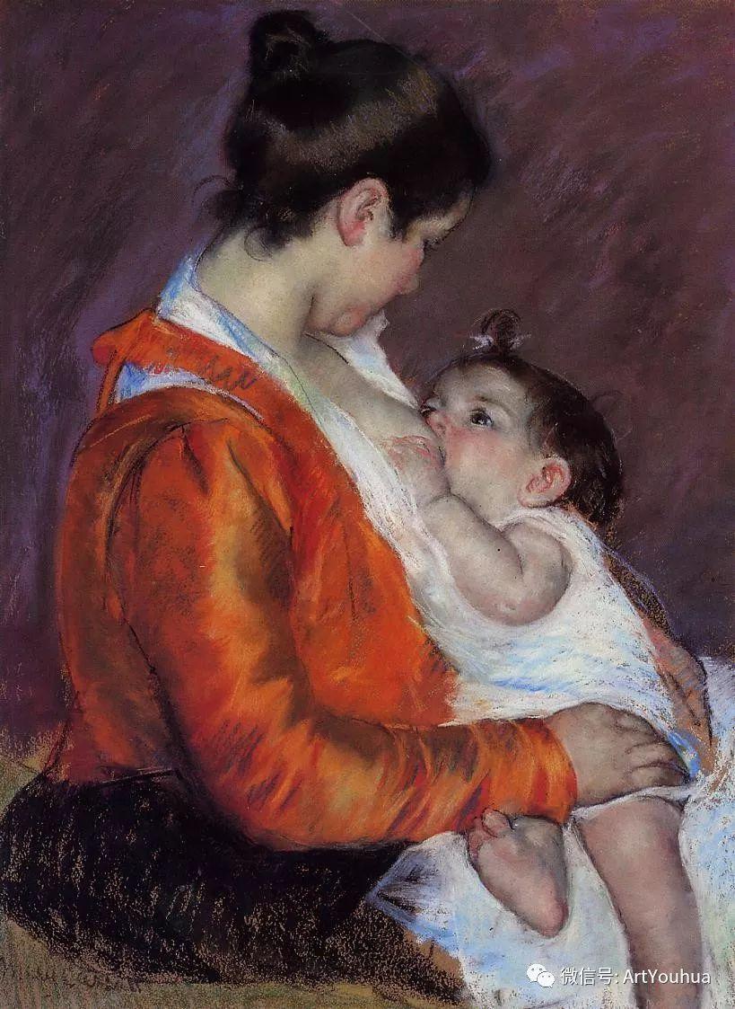 50张人物肖像  美国Mary Stevenson Cassatt油画作品一插图31