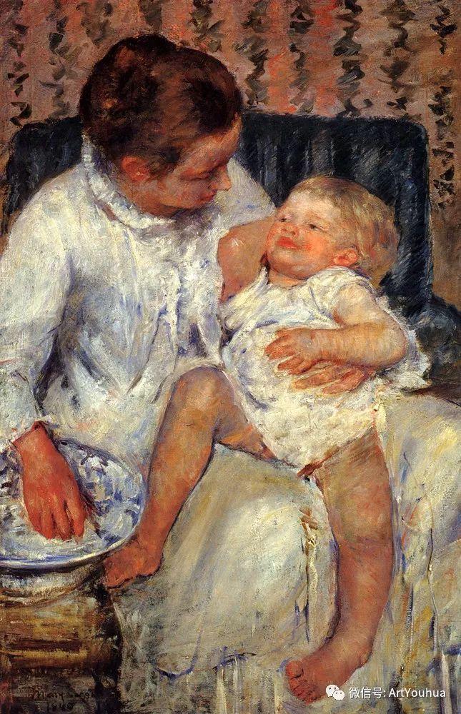 50张人物肖像  美国Mary Stevenson Cassatt油画作品一插图33