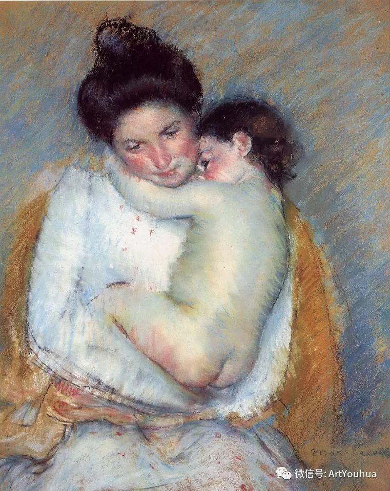 50张人物肖像  美国Mary Stevenson Cassatt油画作品一插图39