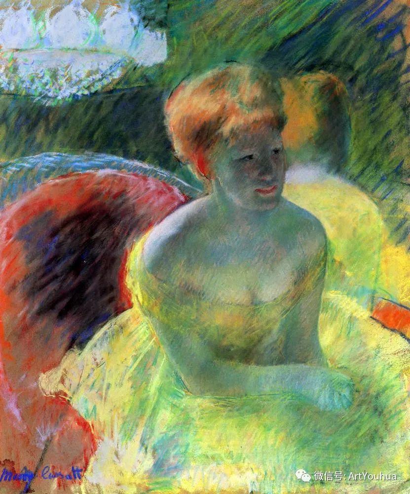 50张人物肖像  美国Mary Stevenson Cassatt油画作品一插图41