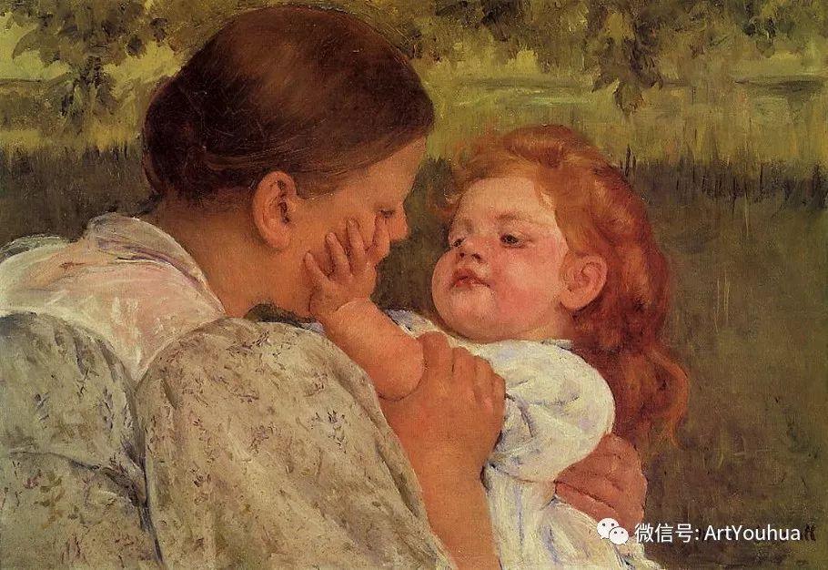 50张人物肖像  美国Mary Stevenson Cassatt油画作品一插图43