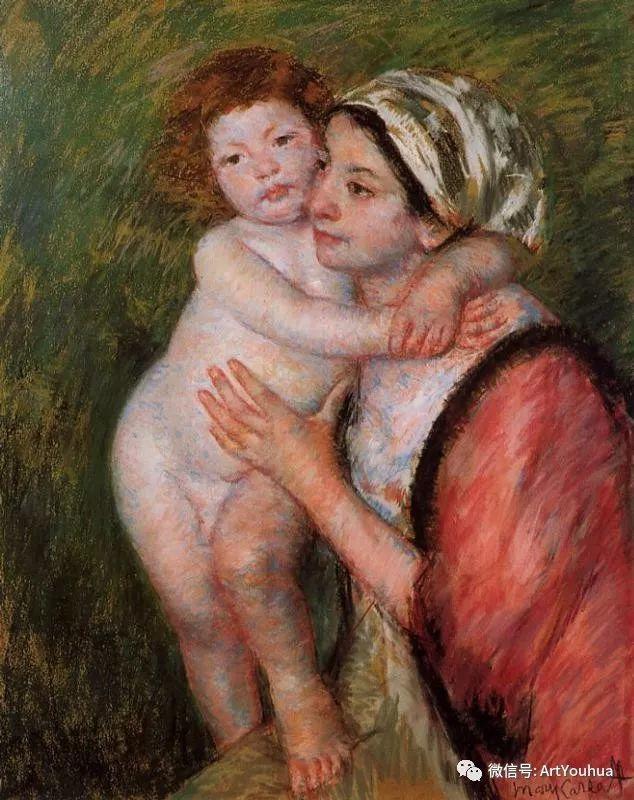 50张人物肖像  美国Mary Stevenson Cassatt油画作品一插图45
