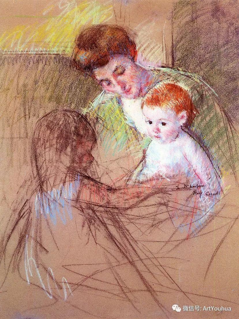 50张人物肖像  美国Mary Stevenson Cassatt油画作品一插图49