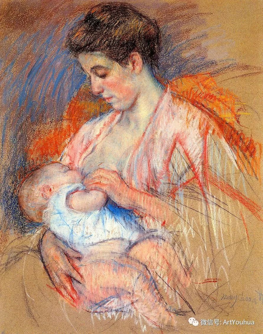50张人物肖像  美国Mary Stevenson Cassatt油画作品一插图57