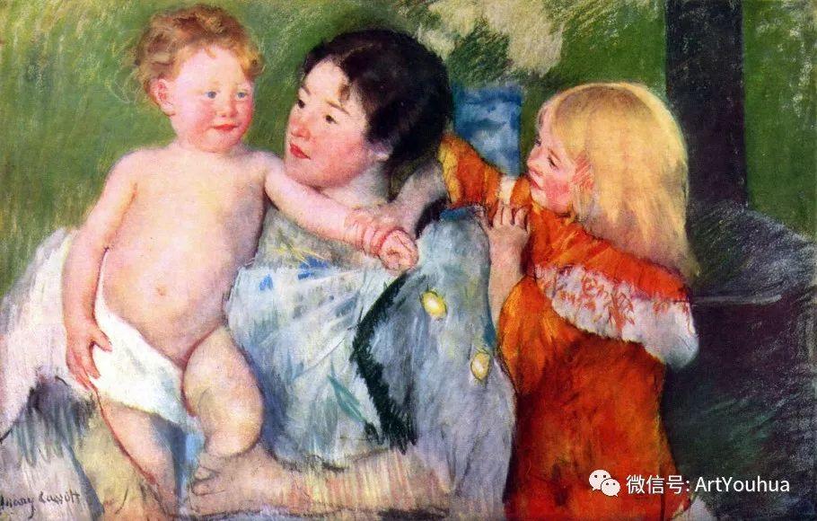 50张人物肖像  美国Mary Stevenson Cassatt油画作品一插图67