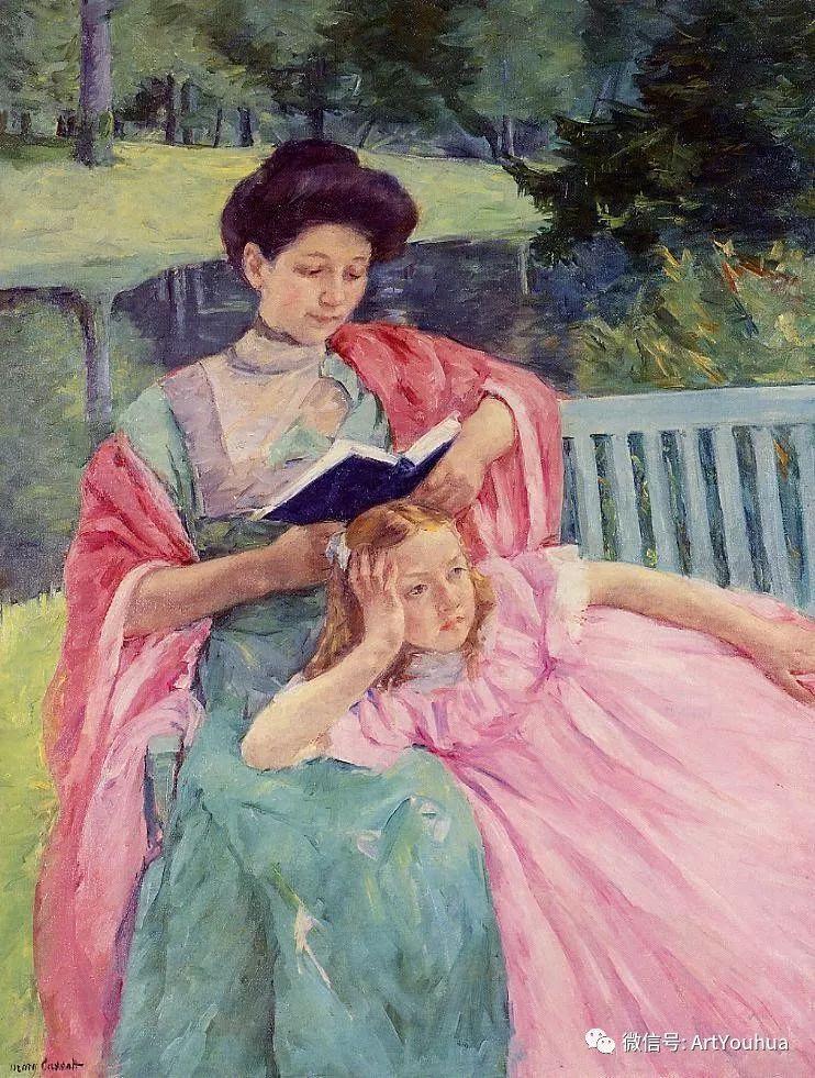 50张人物肖像  美国Mary Stevenson Cassatt油画作品一插图71