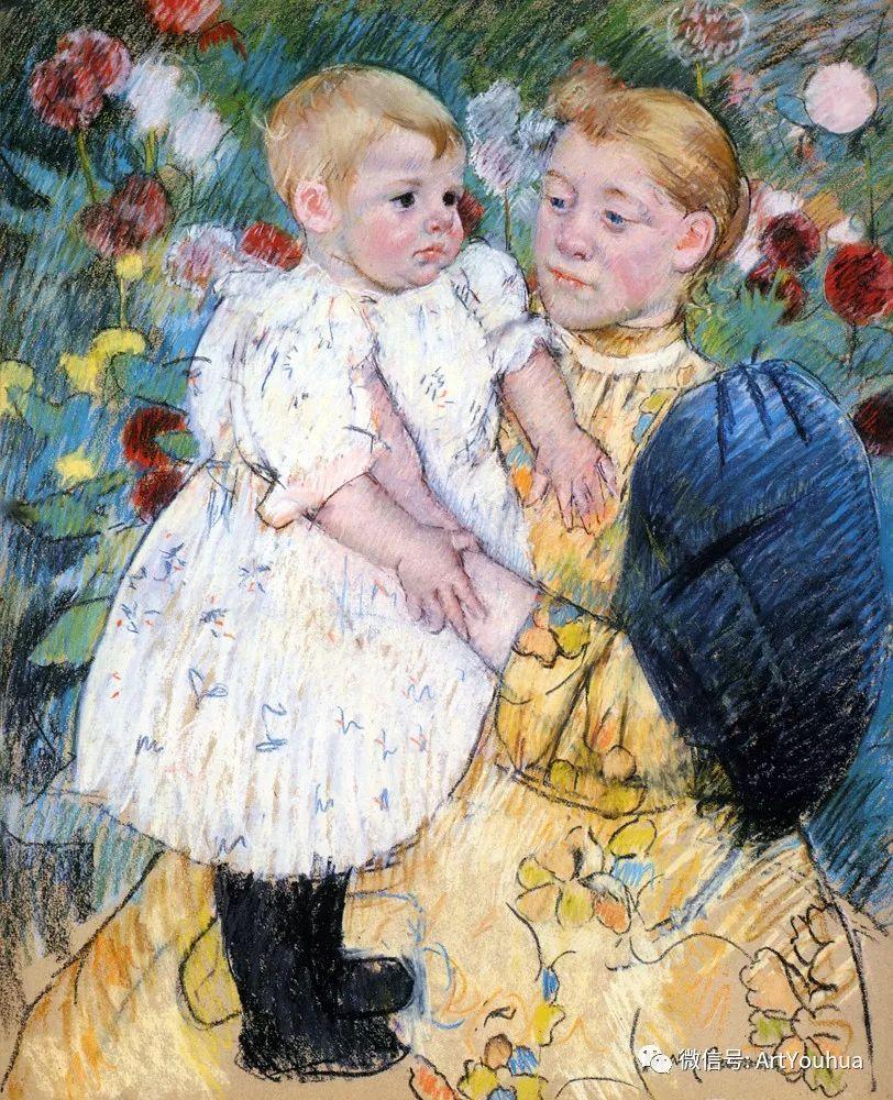 50张人物肖像  美国Mary Stevenson Cassatt油画作品一插图83