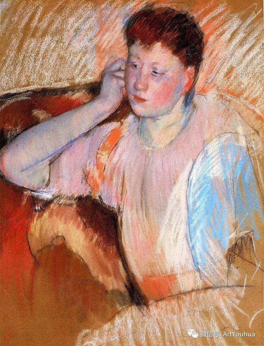 50张人物肖像  美国Mary Stevenson Cassatt油画作品一插图89